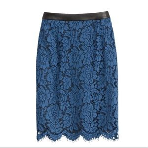 Blue lace skirt with cute details